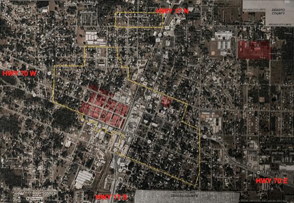 Map of Arcadia, Florida's Historic District